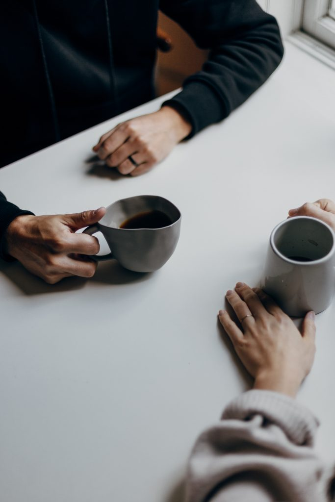 Counselling in Exeter - drinking coffee